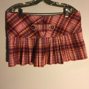 Abercrombie and Fitch plaid miniskirt red cashmere